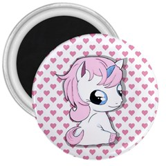 Baby Unicorn 3  Magnets by Valentinaart