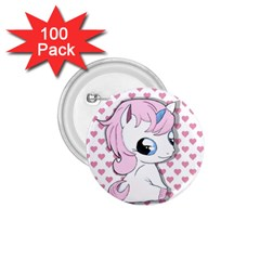 Baby Unicorn 1 75  Buttons (100 Pack)  by Valentinaart