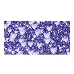 Hearts On Sparkling Glitter Print, Blue Satin Wrap by MoreColorsinLife
