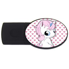 Baby Unicorn Usb Flash Drive Oval (4 Gb) by Valentinaart