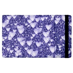 Hearts On Sparkling Glitter Print, Blue Apple Ipad Pro 9 7   Flip Case by MoreColorsinLife