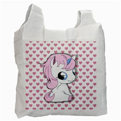 Baby Unicorn Recycle Bag (one Side) by Valentinaart