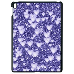 Hearts On Sparkling Glitter Print, Blue Apple Ipad Pro 9 7   Black Seamless Case by MoreColorsinLife