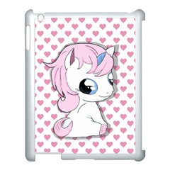 Baby Unicorn Apple Ipad 3/4 Case (white) by Valentinaart
