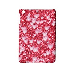 Hearts On Sparkling Glitter Print, Red Ipad Mini 2 Hardshell Cases by MoreColorsinLife
