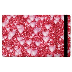 Hearts On Sparkling Glitter Print, Red Apple Ipad Pro 12 9   Flip Case by MoreColorsinLife