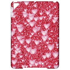 Hearts On Sparkling Glitter Print, Red Apple Ipad Pro 9 7   Hardshell Case by MoreColorsinLife