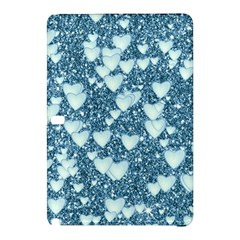 Hearts On Sparkling Glitter Print, Teal Samsung Galaxy Tab Pro 12 2 Hardshell Case by MoreColorsinLife
