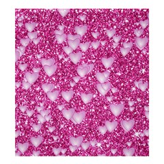 Hearts On Sparkling Glitter Print, Pink Shower Curtain 66  X 72  (large)  by MoreColorsinLife