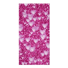 Hearts On Sparkling Glitter Print, Pink Shower Curtain 36  X 72  (stall)  by MoreColorsinLife