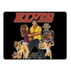 Elvis Presley Fleece Blanket (small) by Valentinaart