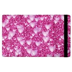 Hearts On Sparkling Glitter Print, Pink Apple Ipad Pro 9 7   Flip Case by MoreColorsinLife