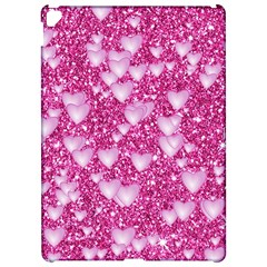 Hearts On Sparkling Glitter Print, Pink Apple Ipad Pro 12 9   Hardshell Case by MoreColorsinLife