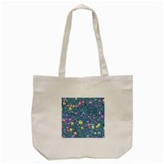 Stars On Sparkling Glitter Print, Blue Tote Bag (cream) by MoreColorsinLife