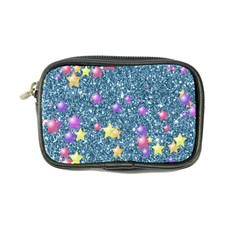 Stars On Sparkling Glitter Print, Blue Coin Purse by MoreColorsinLife