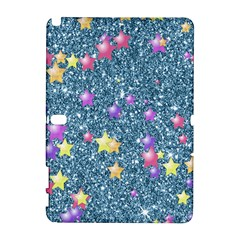 Stars On Sparkling Glitter Print, Blue Galaxy Note 1 by MoreColorsinLife