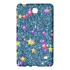 Stars On Sparkling Glitter Print, Blue Samsung Galaxy Tab 4 (8 ) Hardshell Case  by MoreColorsinLife