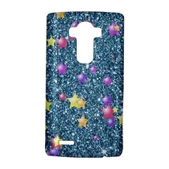 Stars On Sparkling Glitter Print, Blue Lg G4 Hardshell Case by MoreColorsinLife