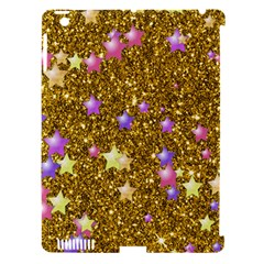Stars On Sparkling Glitter Print,golden Apple Ipad 3/4 Hardshell Case (compatible With Smart Cover) by MoreColorsinLife