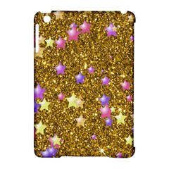 Stars On Sparkling Glitter Print,golden Apple Ipad Mini Hardshell Case (compatible With Smart Cover) by MoreColorsinLife