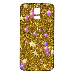 Stars On Sparkling Glitter Print,golden Samsung Galaxy S5 Back Case (white) by MoreColorsinLife