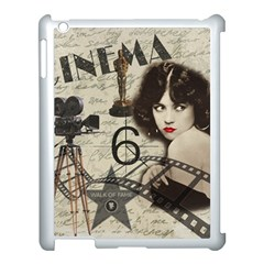 Vintage Cinema Apple Ipad 3/4 Case (white) by Valentinaart