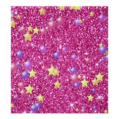 Stars On Sparkling Glitter Print,pink Shower Curtain 66  X 72  (large)  by MoreColorsinLife