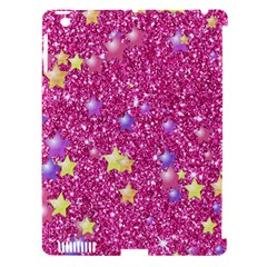 Stars On Sparkling Glitter Print,pink Apple Ipad 3/4 Hardshell Case (compatible With Smart Cover) by MoreColorsinLife