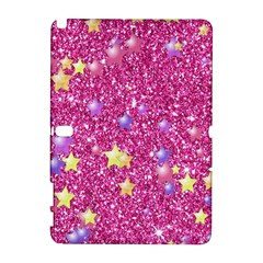 Stars On Sparkling Glitter Print,pink Galaxy Note 1 by MoreColorsinLife