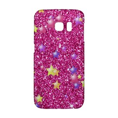 Stars On Sparkling Glitter Print,pink Galaxy S6 Edge by MoreColorsinLife