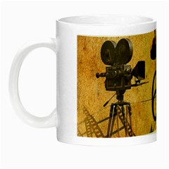Vintage Cinema Night Luminous Mugs by Valentinaart