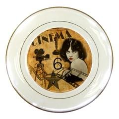 Vintage Cinema Porcelain Plates by Valentinaart
