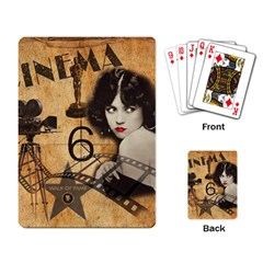 Vintage Cinema Playing Card by Valentinaart