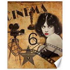 Vintage Cinema Canvas 11  X 14   by Valentinaart