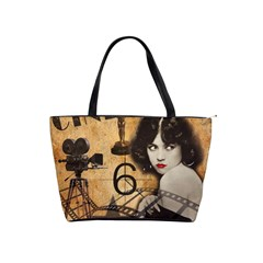 Vintage Cinema Shoulder Handbags by Valentinaart