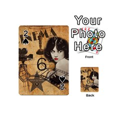 Vintage Cinema Playing Cards 54 (mini)  by Valentinaart