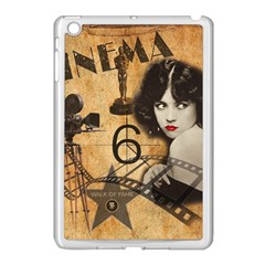 Vintage Cinema Apple Ipad Mini Case (white) by Valentinaart