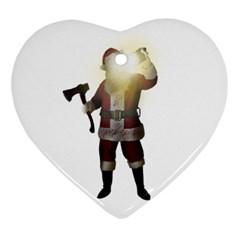 Santa Killer Ornament (heart) by Valentinaart