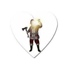 Santa Killer Heart Magnet by Valentinaart