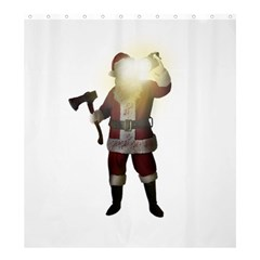 Santa Killer Shower Curtain 66  X 72  (large)  by Valentinaart