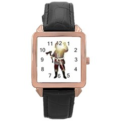 Santa Killer Rose Gold Leather Watch  by Valentinaart