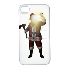 Santa Killer Apple Iphone 4/4s Hardshell Case With Stand by Valentinaart