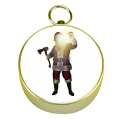 Santa Killer Gold Compasses by Valentinaart