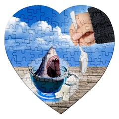 Cup Of Tea Jigsaw Puzzle (heart) by Valentinaart