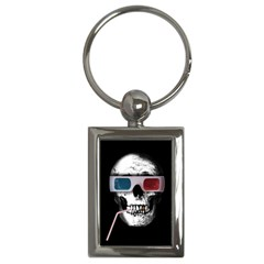 Cinema Skull Key Chains (rectangle)  by Valentinaart