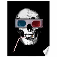 Cinema Skull Canvas 18  X 24   by Valentinaart