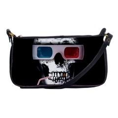 Cinema Skull Shoulder Clutch Bags by Valentinaart