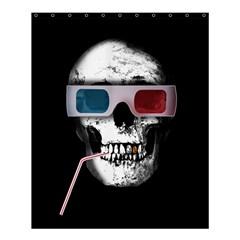 Cinema Skull Shower Curtain 60  X 72  (medium)  by Valentinaart