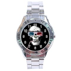 Cinema Skull Stainless Steel Analogue Watch by Valentinaart