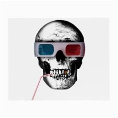 Cinema Skull Small Glasses Cloth by Valentinaart
